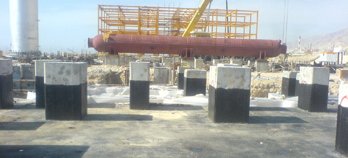 Construction of the boiler foundations, pedestals, and installation of anchor blots – Phases 17 and 18