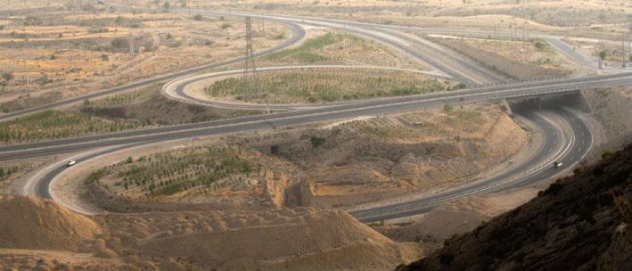 Construction of Taheri – Jam three-way interchange, Boushehr province